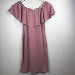 Loose Fit Casual Off The Shoulder Dress